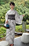 綿麻浴衣 仕立て上り浴衣 単色古典浴衣 松 和柄プレタ浴衣 麻45%