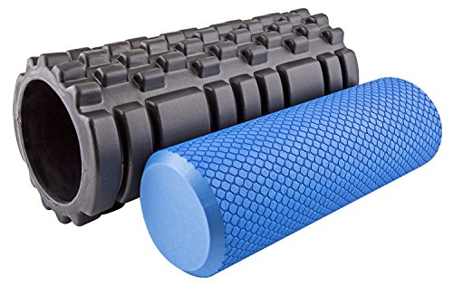 Big Save! Fit Spirit High Density Soft & Textured Fitness Foam Rollers (Set of 2)