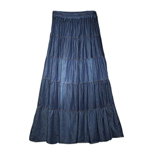 Meilaier Women'S Summer Denim A-Line Casual Fashion Jeans Long Skirts