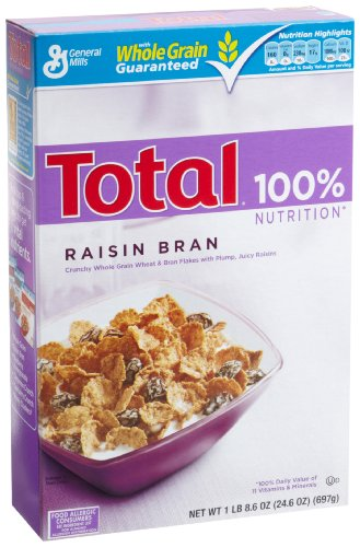 Total Raisin Bran Cereal, 24.6-Ounce Boxes (Pack of 14)