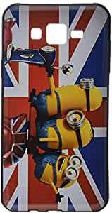 iCandy™ UV Printed Matte Finish Soft Back cover For Samsung Galaxy J7 - MINIONS