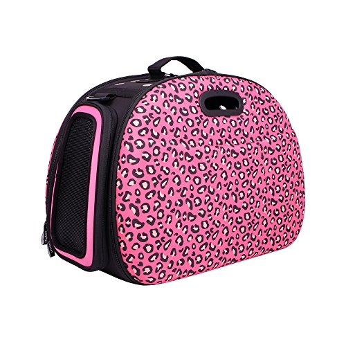 Ibiyaya Pet Carrier, Safari, Pink Leopard