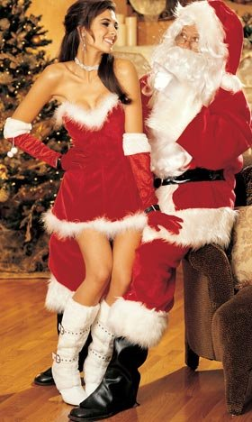 Shirley Of Hollywood Men's Mens Santa Suit Costume Santa Costumes For Men