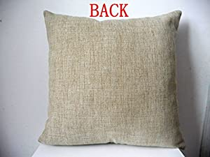 "Cotton Linen Square Decorative Retro Throw Pillow Case Vintage Cushion Cover I Love You to the Moon and Back 18 ""X18 "" from decorbox"