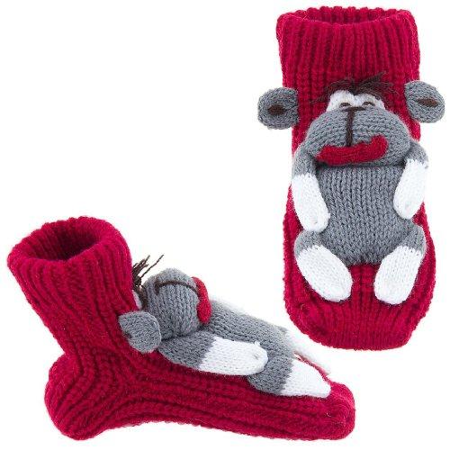 Image of Monkey Slipper Socks for Kids Small (B004Z25KKO)