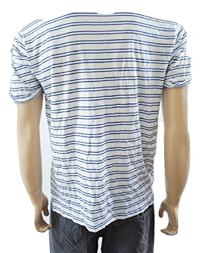 G Star Raw Blu e bianco a righe manica corta puro cotone t shirt Blue & White Medium