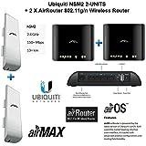 Ubiquiti NSM2 2-UNITS NanoStation M2 + 2 X AirRouter 802.11g/n Wireless Router