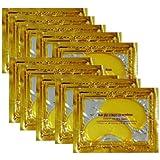 Hitece Anti Aging Crystal 24K Gold Powder Gel Collagen Eye Masks Sheet Patch (10 Pairs)