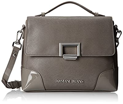 Armani Jeans U3 Eco Saffiano with Patent Details Top Handle Bag