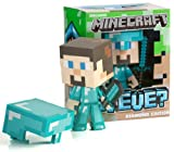 Minecraft Steve Diamond Vinyl Toy (6 Inches Tall) w/ Diamond Sword in Collector's Box