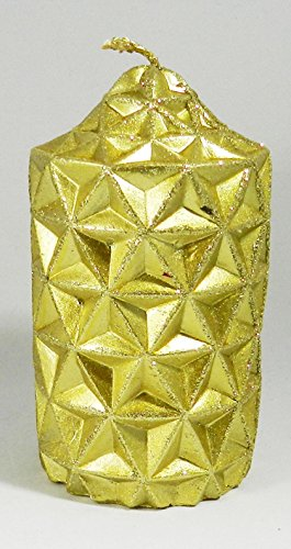 golden-honeycomb-design-solid-christmas-candle