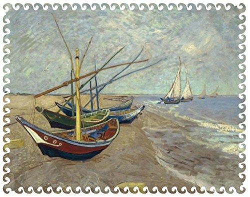 Van Gogh Boats Wooden Jigsaw Puzzle