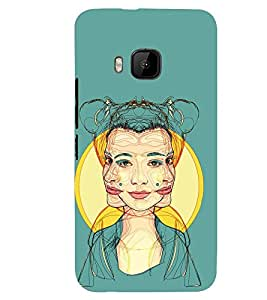 PRINTSWAG GIRL MULTI FACES Designer Back Cover Case for HTC ONE M9S