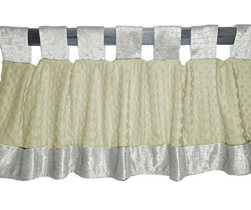Baby Doll Croco Minky Window Valance, Ivory/Beige
