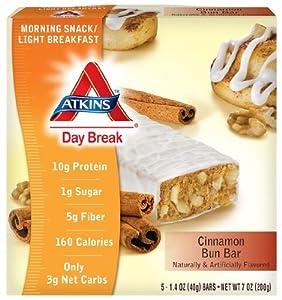 Day Break, Cinnamon Bun Bar, 5 Bars, 1.4 oz (40 g) Each