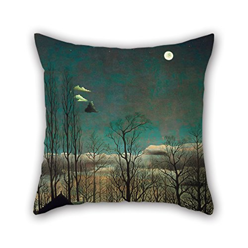 Loveloveu Pillowcase 18 X 18 Inches / 45 By 45 Cm(twin Sides) Nice Choice For Saloon,seat,home,couch,christmas,drawing Room Oil Painting Henri-Julien-Félix Rousseau, French - Carnival Evening (I Am Pole And So Can You compare prices)
