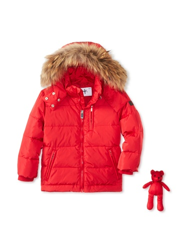 Il Gufo Kid's Jacket with Fur Hood