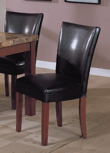 Set 2 Soho Collection Black Leatherette Parsons Dining