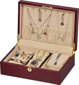 Auer accessories anios 6110c caja de joyas cerezo amazon - Portagioie ikea ...