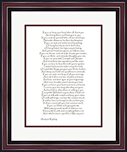 If by Rudyard Kipling Framed Art Print Wall Picture with Hanging Cleat, Size 20 X 24 inches