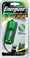 Energizer Chargeur USB + 2 Piles HR03 AAA