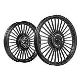 Kingway KS2A 30 Spokes Bike Alloy Wheel Set of 2 19/19 Inch Black-Royal Enfield Electra