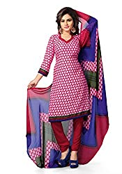 Jevi Prints Womens Synthetic Unstitched Dress Material (Renuka 4364 _Pink)