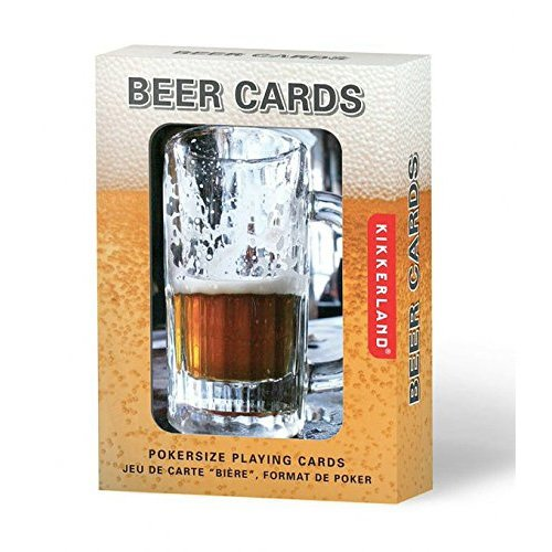 Kikkerland Playing Cards, Beer Lenticular - 1