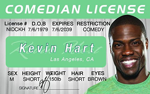 Kevin Hart Novelty Drivers License / Fake I.d. Identification for Scary Movie 3 / Soul Plane Fans - 1