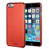 "JOTO iPhone 6 4.7 Case - Slim Thin Fit Hard Cover Case Exclusive for Apple iPhone 6 4.7"" (2014), Premium Metal effect coating hard case for iPhone 6 (Red)"