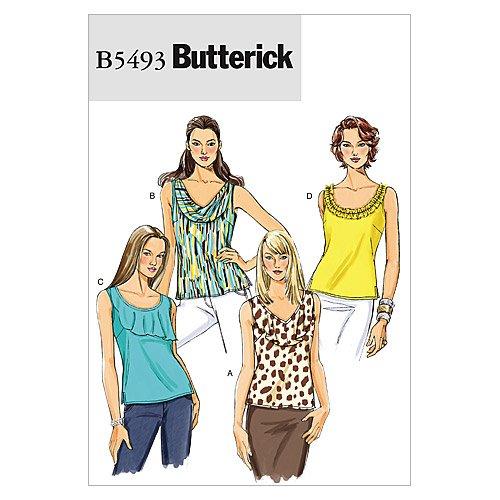 Butterick Patterns B5493 Misses' Top, Size BB (8-10-12-14)