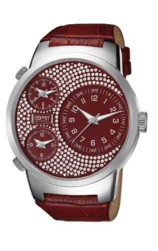 ESPRIT Collection EL101292F08 - Reloj analógico de cuarzo para mujer con correa de piel, color rojo