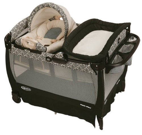 New Graco Pack 'N Play Playard Baby Playpen Gear W Cuddle Cove Rocker Seat