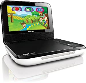 Philips Pd703/37 7-inch Lcd Portable Dvd Player With Wireless Game Controller Black