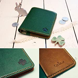 Ziyan 5Colours Fashion Cute Durable Cartoon Button Girl & Lady Wallet Purse Card Case Bag Holder (Green)