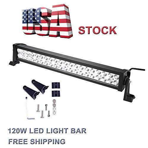 Topcarlight 24inch 120w LED Work Light Bar Flood/spot Combo Beam Lights 4wd SUV UTE Off Road Car Boat Lamps (Bar Lights compare prices)