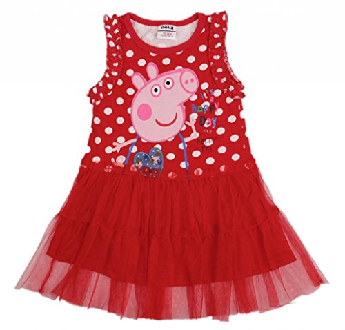 Eowsrzm Little Gril'S Autumn/Summer Sleeveless Lace Dress,3T