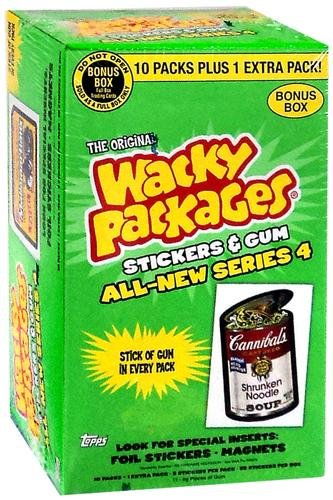 Topps Wacky Packages Stickers and Gum Series 4, Pack of 10 +1 (Wacky Packages Set compare prices)