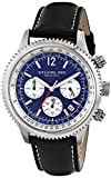 Stuhrling-Original-Mens-66902-Monaco-Quartz-Date-Blue-Dial-Black-Genuine-Leather-Strap-Chronograph-Watch