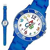 Taffstyle® Sportarmbanduhren - Bunte Silikon Kinder Sport Armbanduhr Sportuhr Kinderuhr Schüler Lernuhr Zahlen Uhr mit Silikonarmband und ABC Motiv