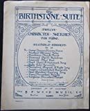 img - for The Birthstone Suite Number 7: Ruby (July) Tarantelle (Twelve Character Sketches) Vintage Sheet Music book / textbook / text book
