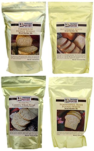 The Prepared Pantry Bread Mix Sampler Pack, 83.2 Ounce (Bread Machine Mixes Variety Packs compare prices)