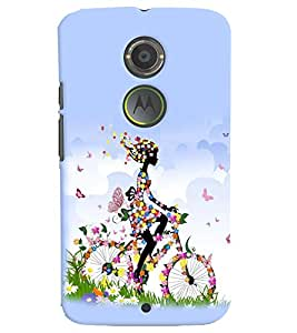 printtech Butterfly girl Back Case Cover for Motorola Moto X2::Motorola Moto X (2nd Gen)