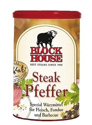 Block House Steak Pfeffer - 1 x 200 g von MyDeli - Gewürze Shop