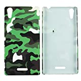 Heartly Army Style Retro Color Armor Hybrid Hard Bumper Back Case Cover For Sony Xperia T3 D5102 - Army Green