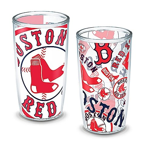Tervis MLB Boston Red Sox All-Over Wrap 16 oz. Tumblers (Set of 2) (Red Sox Tervis Tumbler With Lid compare prices)