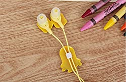 Kuhu Creations Cute Yellow Cartoon Earphone 3.5 mm universal Jack, without mic