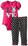Disney Baby Baby-Girls Newborn Disney's Minnie Mouse Bodysuit and Pant Set