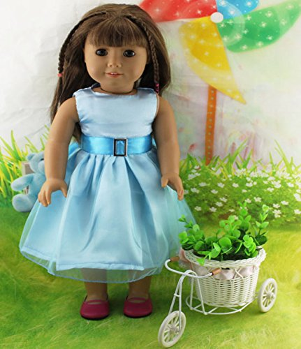 Teenitor(TM) Light Blue Dress Fits 18 Inch Girl Dolls (Shipping By FBA) - 1