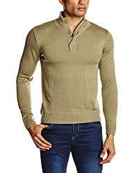 Lee Men's Synthetic Sweater (8907222305284_LESW1805_Medium_Chino)